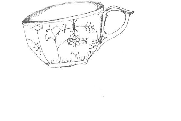 teacup musselmalet