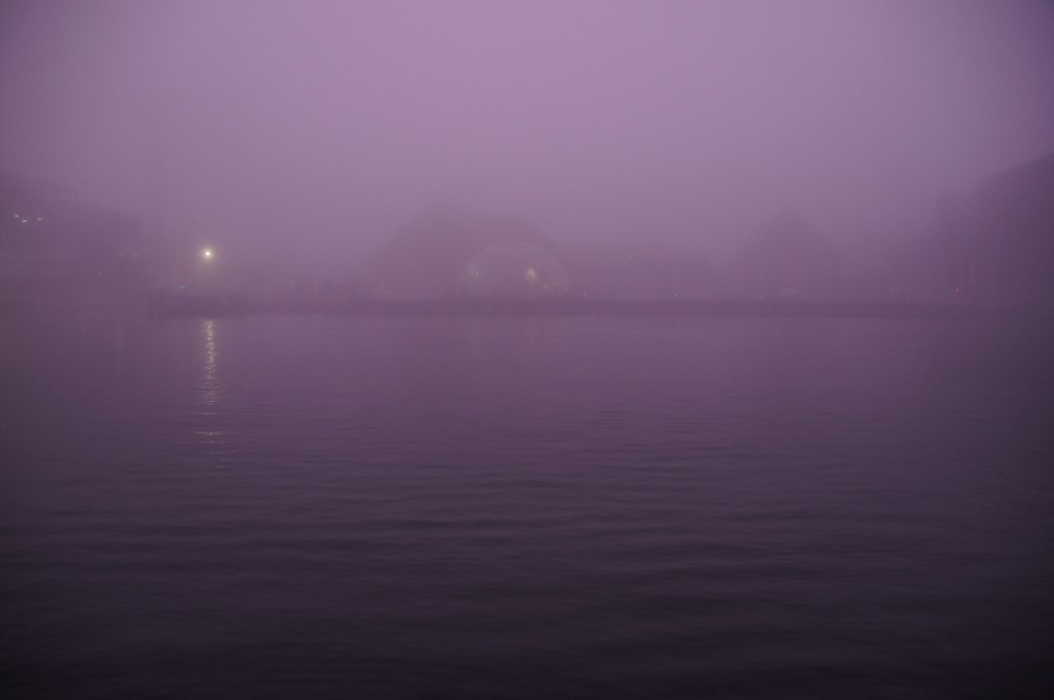 metaphysical fog with purple glow